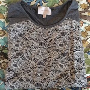 Gray lacey top
